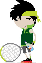 LTA Mini Tennis Alfie_Standing